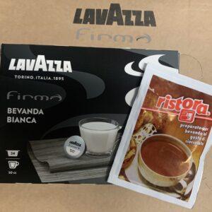 Kapsula z mlekom in vrečka tople čokolade Ristora